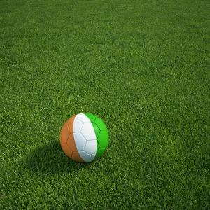 Ivorian Soccerball Lying on Grass by zentilia