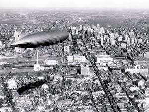 Zeppelin above Philadelphia