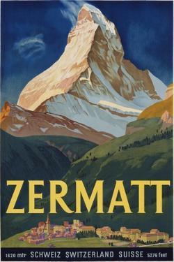 Zermatt Poster by Carl Moos