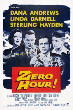 Zero Hour!, from Left: Linda Darnell, Sterling Hayden, Dana Andrews, Peggy King, 1957