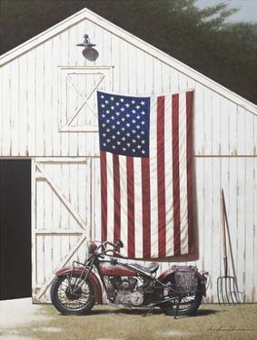 Barn and Motorcycle by Zhen-Huan Lu