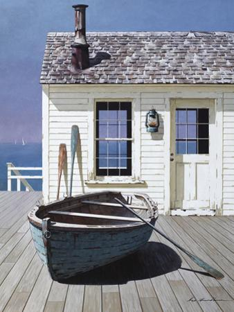 Blue Boat on Deck by Zhen-Huan Lu