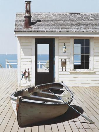 Boat on the Dock by Zhen-Huan Lu
