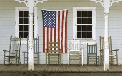 Chair Family with Flag