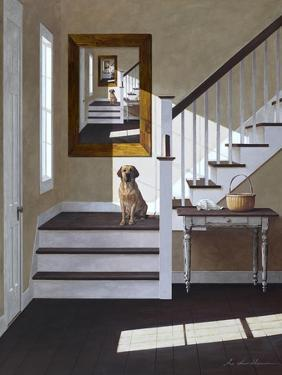 Droste and Dog on Stairs by Zhen-Huan Lu