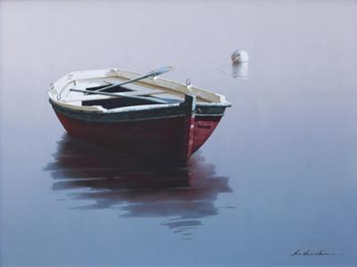 Lonely Boat in Red by Zhen-Huan Lu