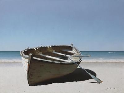 Lonely Boat on Beach by Zhen-Huan Lu