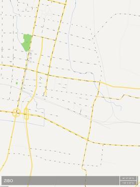Zibo, China Map