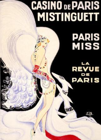 Casino de Paris, Mistinguett by Zig (Louis Gaudin)
