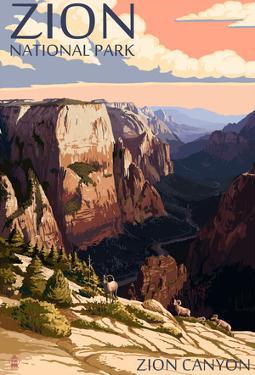 Zion National Park - Zion Canyon Sunset