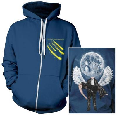 Zip Hoodie: Balance and Composure - Moon (Front/Back)