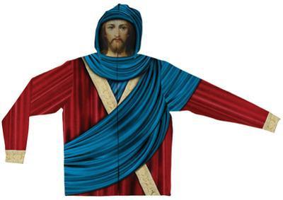 Zip Hoodie: Jesus Face Mask