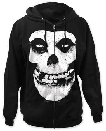Zip Hoodie: Misfits - Fiend Skull