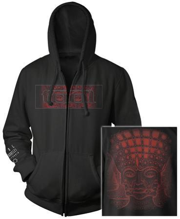 Zip Hoodie: Tool- Red 10,000 Days Face (Front/Back)