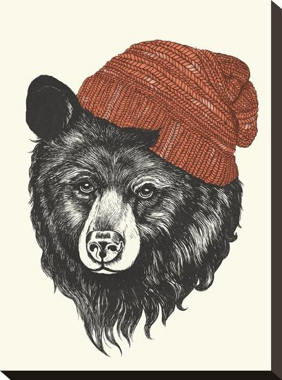 Zissou The Bear-Laura Graves-Stretched Canvas
