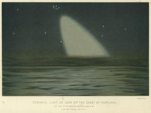 Zodiacal Light as Seen Off the Coast of Portugal