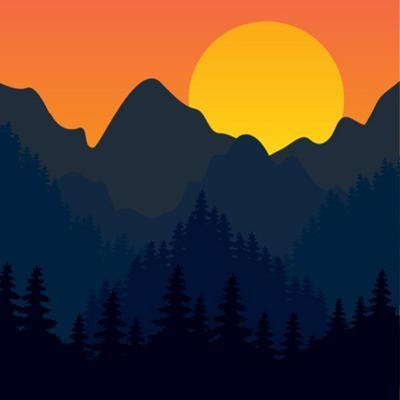 Evening Mountains Forest by Zolotnyk Mariana