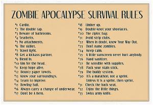 Zombie Apocalypse Rules