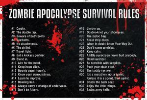 Zombie Apocalypse Survival Rules