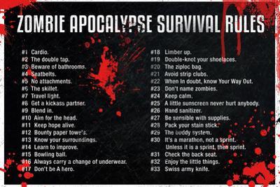 Zombie Apocalypse Survival Rules
