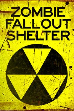 Zombie Fallout Shelter Sign Plastic Sign