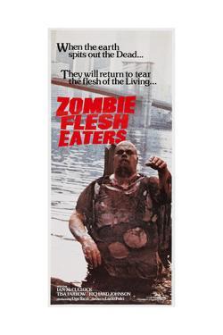 Zombie Flesh Eaters, Australian poster art, 1979