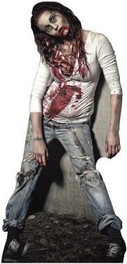 Zombie Girl Lifesize Standup