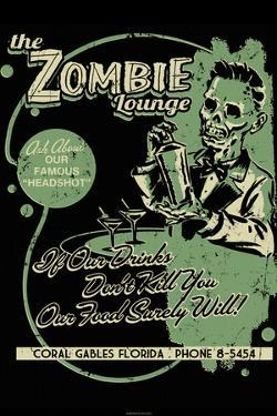 Zombie Lounge by Retro-A-Go-Go Poster