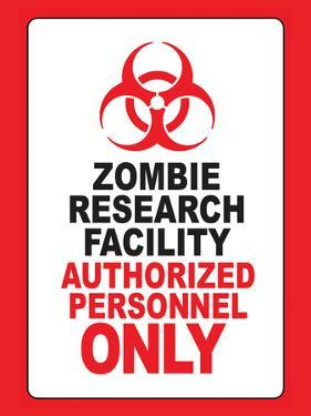 Zombie Research Facility Art Poster Print