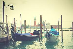 Gondolas in Venice, Italy. Instagram Style Filtred by Zoom-zoom
