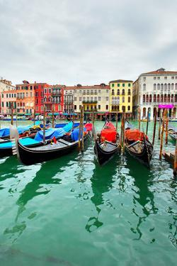 Gondolas on Grand Canal, Venice, Italy by Zoom-zoom