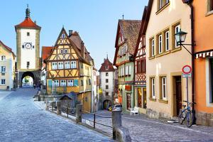 Old Street in Rothenburg Ob Der Tauber, Bavaria, Germany by Zoom-zoom