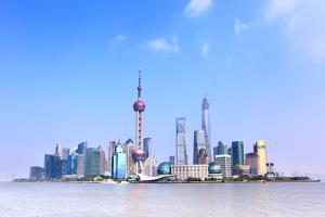 Panoramic View of Shanghai Skyline, China by Zoom-zoom