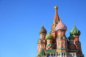 St. Basil's Cathedral on Red Square in Moscow, Russia. Copyspace at the Left. by Zoom-zoom