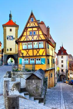 The Most Famous Sight of Rothenburg Ob Der Tauber, Bavaria, Germany by Zoom-zoom