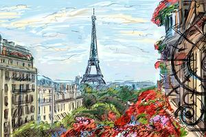 Street in Paris - Illustration by ZoomTeam