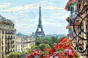 Street in Paris - Illustration by ZoomTeam