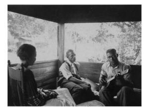 Zora Neale Hurston, Rochelle French, and Gabriel Brown, in Eatonville, Florida Recording, 1935