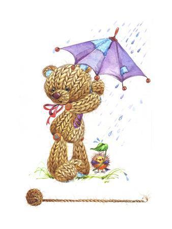 Teddy Bear with Umbrella