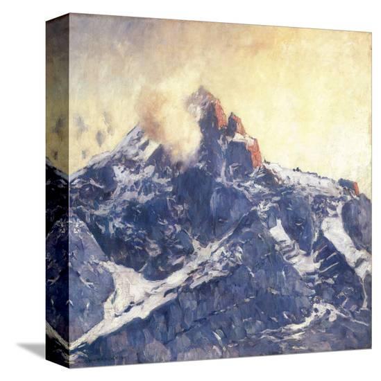 Zugspitze Mountain-Eugen Bracht-Stretched Canvas