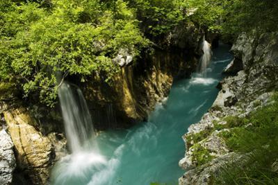 River Soca Flowing Through Velika Korita, Triglav National Park, Slovenia, June 2009 by Zupanc