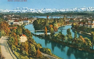 Zurich, Limmat and Sihl, Switzerland