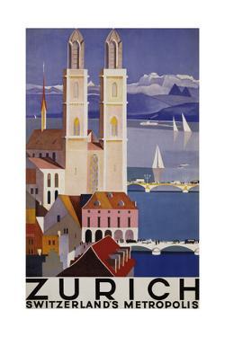 Zurich Poster by Otto Baumberger