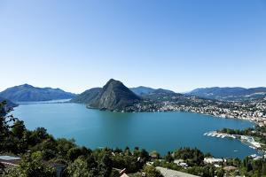 Lake Lugano, Panoramic View from the Top, Switzerland by zveiger