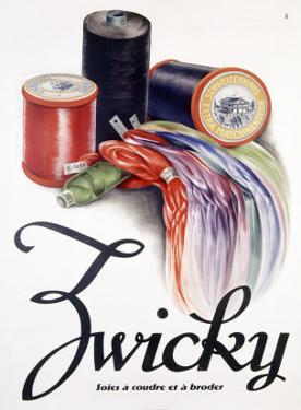 Zwicky Embroidery Spool Thread Poster
