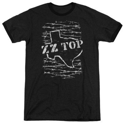 ZZ Top- Distressed Barbed Texas Ringer