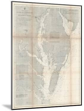 1866, Chesapeake Bay and Virginia's Eastern Shore Chart Virginia, Virginia, United States