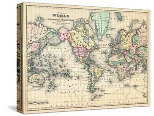 World maps posters and prints at art 1876 world map of the world 1876 gumiabroncs Images