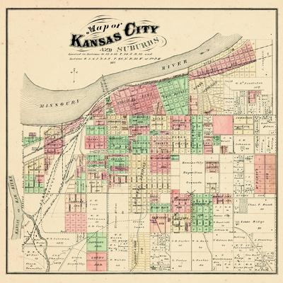 Maps of Kansas City MO Posters and Prints at Artcom