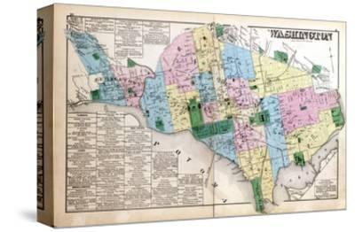 Maps of Washington DC canvas Posters and Prints at Artcom